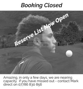 booking closed reserve list available
